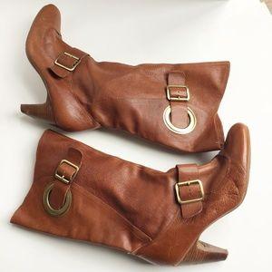 BCBGIRLS Camel Brown heel midcalf Boots size 10/40